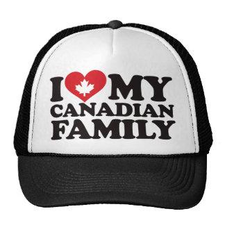 I Love My Canadian Family Cap