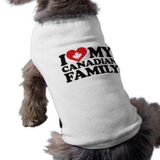 I Love My Canadian Family Sleeveless Dog Shirt
