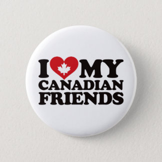 I Love My Canadian Friends 6 Cm Round Badge