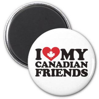 I Love My Canadian Friends 6 Cm Round Magnet