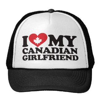 I Love My Canadian Girlfriend Mesh Hat