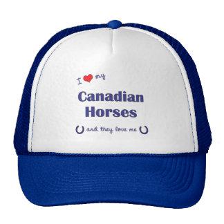 I Love My Canadian Horses (Multiple Horses) Hats
