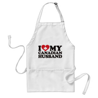 I Love My Canadian Husband Standard Apron