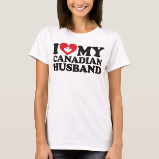 I Love My Canadian Husband T-Shirt