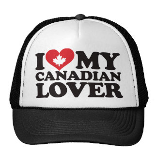 I Love My Canadian Lover Mesh Hats