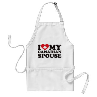 I Love My Canadian Spouse Aprons