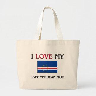 I Love My Cape Verdean Mom Tote Bags