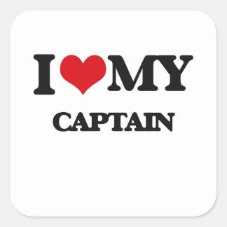 I love my Captain Square Sticker