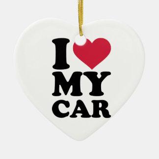 I love my car ceramic heart decoration