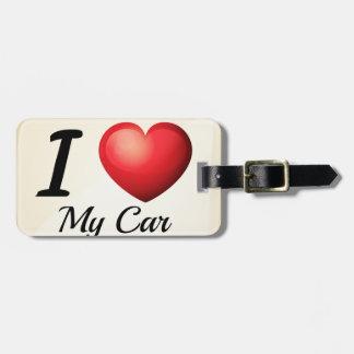 I love my car luggage tag