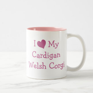 I Love My Cardigan Welsh Corgi Two-Tone Coffee Mug