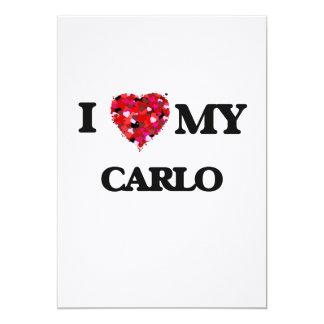 I love my Carlo 13 Cm X 18 Cm Invitation Card