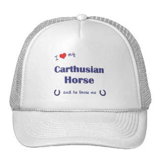 I Love My Carthusian Horse (Male Horse) Mesh Hats