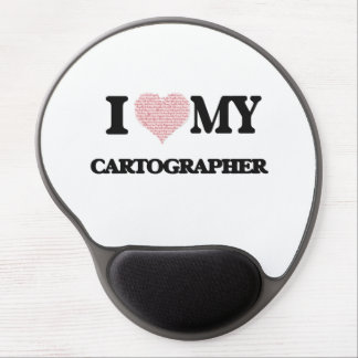 I love my Cartographer (Heart Made from Words) Gel Mouse Pad