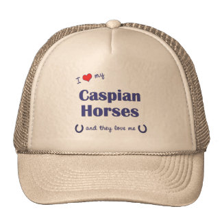 I Love My Caspian Horses (Multiple Horses) Cap