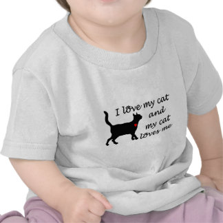 I love my cat and my cat loves me tshirt