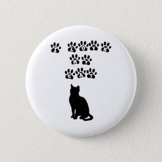 I Love My Cat--Black Text 6 Cm Round Badge