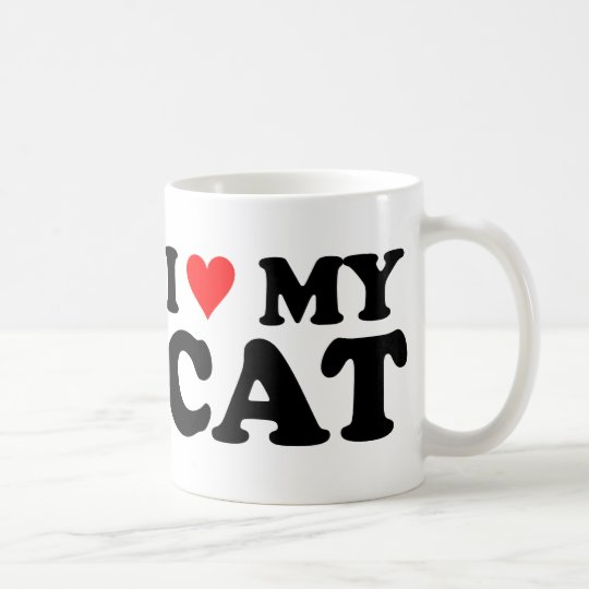 I Love My Cat Coffee Mug