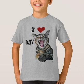 I Love My Cat Customizable Template T-Shirt