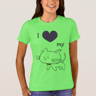 I LOVE my CAT Fun T-Shirt for Cat Lovers