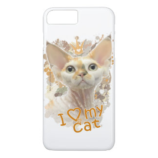 I love my cat iPhone 7 plus case