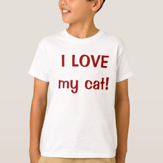 I LOVE my cat! Kids T-shirt