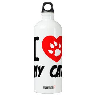 I LOVE  MY CAT PETS FELINES CAUSES ANIMAL HEART FR SIGG TRAVELER 1.0L WATER BOTTLE