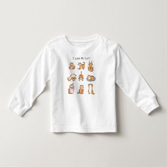 I Love My Cat Toddler T-shirt