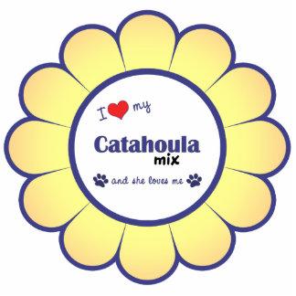 I Love My Catahoula Mix (Female Dog) Cut Outs