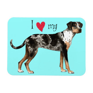 I Love my Catahoula Rectangular Photo Magnet