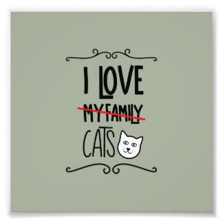 I love my cats photograph