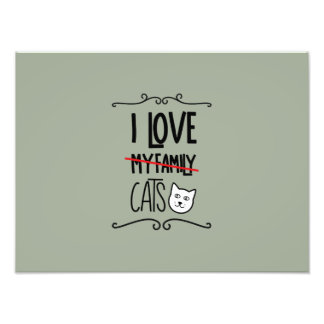 I love my cats photographic print