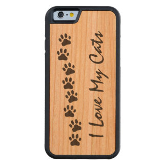 I Love My Cats Cherry iPhone 6 Bumper Case