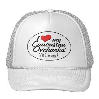I Love My Caucasian Ovcharka (It's a Dog) Trucker Hats