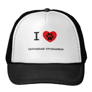 I LOVE MY CAUCASIAN OVCHARKAS MESH HATS