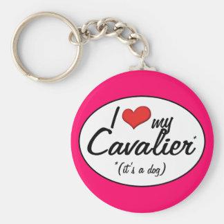 I Love My Cavalier (It's a Dog) Key Ring