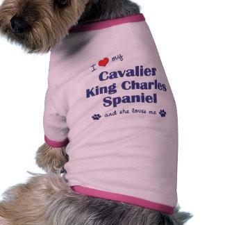 I Love My Cavalier King Charles Female Dog Dog Tee