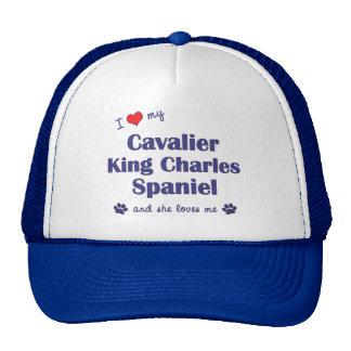 I Love My Cavalier King Charles (Female Dogs) Mesh Hat