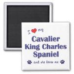 I Love My Cavalier King Charles (Female Dogs) Fridge Magnet