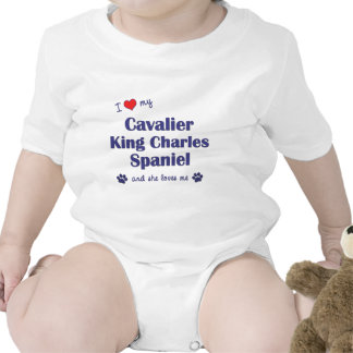 I Love My Cavalier King Charles (Female Dogs) T-shirt