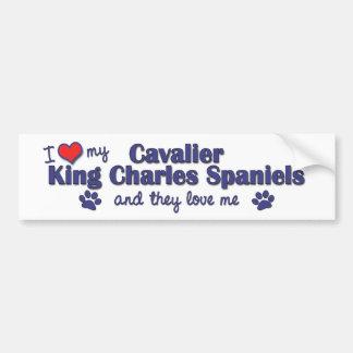 I Love My Cavalier King Charles (Multiple Dogs) Car Bumper Sticker