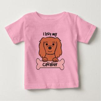 I Love My Cavalier King Charles Spaniel Baby T-Shirt