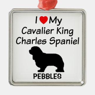 I Love My Cavalier King Charles Spaniel Dog Christmas Ornament