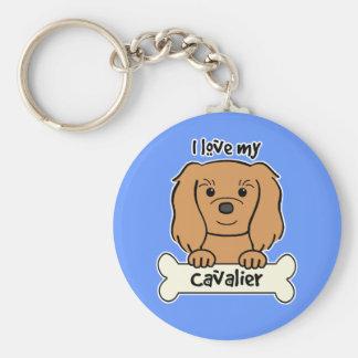 I Love My Cavalier King Charles Spaniel Key Ring