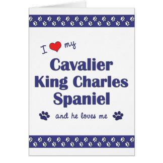 I Love My Cavalier King Charles Spaniel (Male Dog) Card