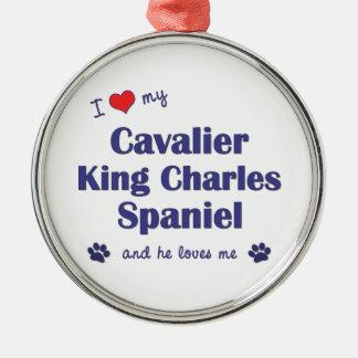 I Love My Cavalier King Charles Spaniel (Male Dog) Christmas Tree Ornaments