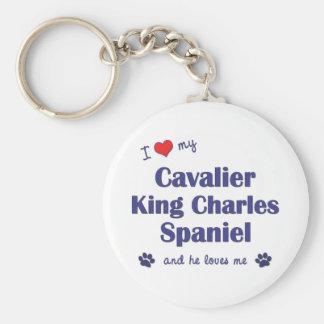 I Love My Cavalier King Charles Spaniel (Male Dog) Key Ring
