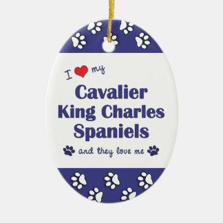 I Love My Cavalier King Charles Spaniels (Multi) Christmas Ornaments