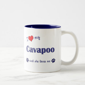 I Love My Cavapoo (Female Dog) Coffee Mugs