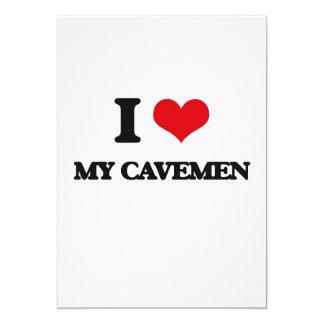 I love My Cavemen 13 Cm X 18 Cm Invitation Card